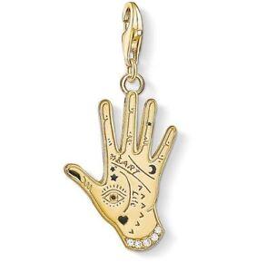 Thomas Sabo Charm CC1717 Sterling Silver YGP Spiritual Hand Charm RRP$139