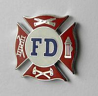 FIRE DEPT DEPARTMENT FIRE FIGHTER FD LAPEL PIN BADGE 3/4 INCH