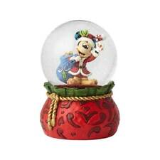 Jim Shore Disney Traditions New Santa Mickey Waterball Holiday Cheer 6001360