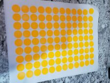 108 Fluorescent Neon Orange Blank Garage Yard Sale Stickers Labels Tags Sale