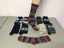 NWOT Women/'s Burlington Merino Wool Blend Socks 5 Pair Medium Navy Multi #670R