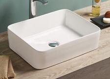 Bathroom  Ceramic Porcelain  Vessel Vanity Sink & Chrome Pop Up Drain 7050H