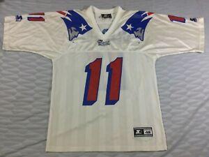 Vintage New England Patriots Drew Bledsoe #11 Football-NFL Starter Jersey SizeL