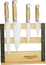 Ferrum Estate 5pc Fixed Maple Wood Chefs Bread Knife Kitchen Block Set E0500
