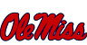 """Ole Miss Rebels NCAA Color Vinyl Decal Sticker_Choose size 3""""-28"""" PVG"""