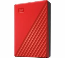 WD My Passport Portable Hard Drive - 4 TB, Red - Currys