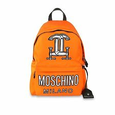SS16 Moschino Couture Jeremy Scott Construction CAPSULE Backpack Orange Neon LMT