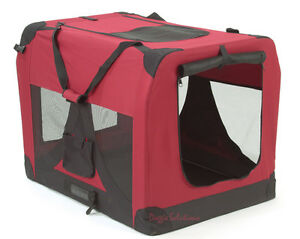 Soft Fabric Dog Crates Burgundy