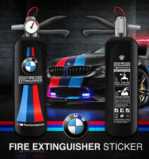Fire extinguisher BMW M Performance sticker decal style design (for Dark Color)