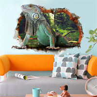 3D Large Lizard Room Home Decor Removable Wall Stickers Decals Decorations