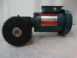 Reliance P56H1441Z-DB Electric Motor 1HP 208-230/460-480V 3.8-3.4/1.7-1.8A 60HZ