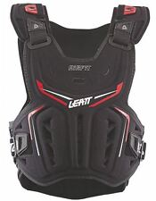2017 LEATT 3DF AIRFIT CHEST PROTECTOR MX ATV OFFROAD BACK ARMOR BLACK / RED