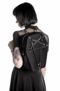 Killstar Hexellent Coffin Pentagram Goth Punk Witchy Purse Backpack K-BAG-F-2443