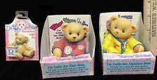 "Cherished Teddies Toybox Teddies Time Bear Alphabet Bear & Bonus ""R"" Lapel Pin"