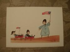 """P Buckley Moss Print """"Wagon Train"""" New Signed/Number 13/1000"""