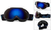 Cloud 9 - Kids Snow Ski Goggles Anti-Fog Snowboarding Boys Black Flash Lens