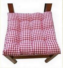 6 Coussins Galette Dessus de chaise Vichy Rouge