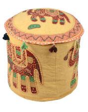 Handmade Beige Ottomen