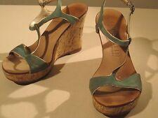 Anne Klein Cork Platform Sandal Sea Foam Green Size 6 Pre-owned
