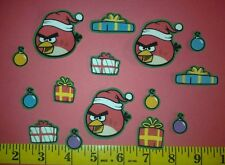 New! Cool! ANGRY BIRDS CHRISTMAS Iron-on Fabric Appliques ~ Iron ons