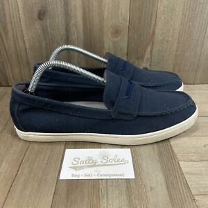Cole Haan Navy Blue Hyannis Weekender Canvas Penny Loafer (C25763) Mens Size 8.5