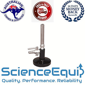Bunsen Burner LPG  with STOP COCK/VALVE Chemistry laboratory HEAVY DUTY