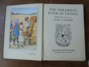Children's Book of Hymns, with illustrations by Cicely M. Barker - 1950 hardback