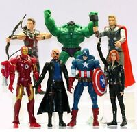Avengers Thor Hulk Iron Man Captain America Black Widow Action Figure Toy 7 PCS