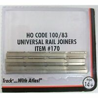 Atlas (HO-Scale) #170 Code 100/83 Nickel Silver Rail Joiners (48) - NIB