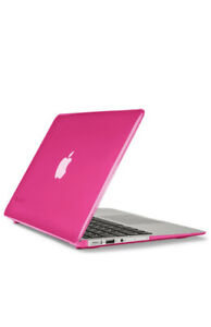 """Hot Pink Apple MacBook Air 11"""" Case 2015 Glossy Hard Shell Case"""
