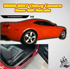 2009-2017 Cheverolet Camaro Door Sill Decal Graphic Protector Chevy SS Car Kit
