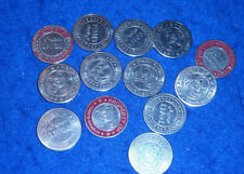 LOT 13 JETON tom's world PACHINKO JAPON japan CHIPS TOKEN Gaming casino FUN ONLY