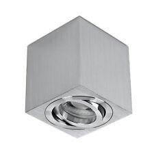 LED Decken-Aufbau-Spot Alu gebürstet incl. LED 5W GU10 230V warmweiß - lambado®
