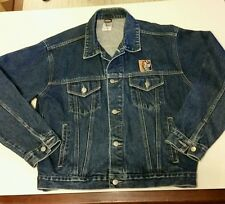 "Warner Bros Harley Davidson Taz  Denim Motorcycle Jacket~ Sz M ""Rough Riders USA"