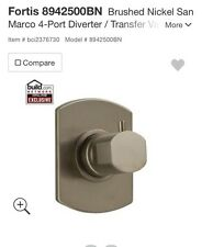 Fortis 8942500BN 3 Way Diverter Valve Trim In Brushed Nickel
