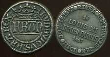 LOUIS XI denier parisis  1467    COLLECTION BP  ( bis )