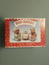 New ListingNew Merry Miniatures - Tea Time 3-Piece Set - Hallmark Personalities 1997