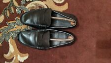 Louis Vuitton Black Leather Shade Penny Loafers Size 41EUR