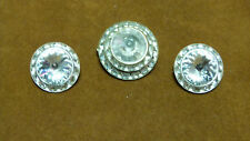 Parure ancienne broche + Boucles oreilles CLIPS strass BLANC/VINTAGE/old brooch