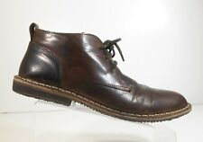 Red Tape Men High Top Shoes Brown Chukka Lace Up Leather Ankle Boots Size 11.5