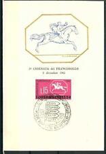 ITALIA REP. - 1961 - 3ª Giorn. del francobollo -  Cavallino sardo su maximum - D
