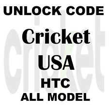 Unlock Code CRICKET HTC Sim Network Pin HTC Desire 520 510 512 625 626s M7 M8 M9