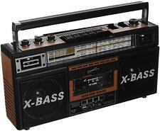 Retro 4-Band Radio & Cassette Player (Wood)