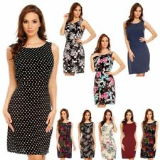 Summer/Beach Boat Neck Casual Dresses for Women