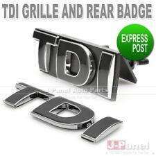 TDI BLACK FRONT GRILLE BADGE REAR EMBLEM SET for ALL VOLKSWAGEN VW CAR EXTERIOR