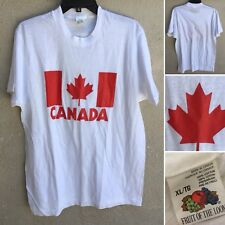 CANADA T-Shirt XL Fruit Of The Loom Made In Canada