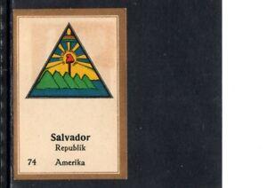 VERY EARLY EL SALVADOR CIGARETTE CARD,  COAT OF ARMS