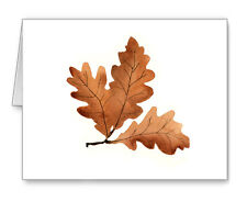Oak Leaves Note Cards With Envelopes