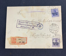 1918 Regostered Roga Cover (Ger. Occupation Lithuania) #IN7 & IN8 M2
