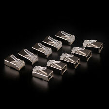 10 x High-quality Silver Plated Cat6 Crystals RJ45 Network Cable Connector 3C